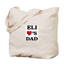 Eli loves dad Tote Bag
