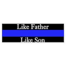 Police Like Father Son (bumper) Bumper Bumper Sticker