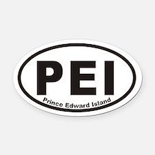 Pei Prince Edward Island Oval Car Magnet