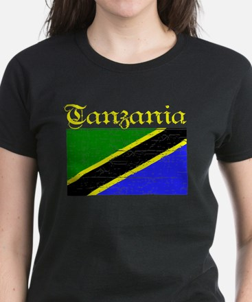 Tanzanian Flag Women's Dark T-Shirt