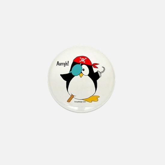 Penguin Pirate Graphic Mini Button