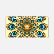 peacock feathers Aluminum License Plate