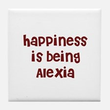 happiness is being Alexia Tile Coaster