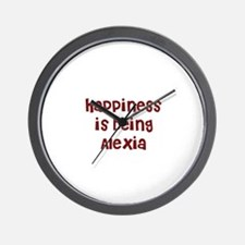 happiness is being Alexia Wall Clock