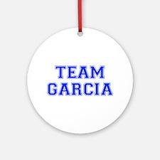 team GARCIA-var blue Ornament (Round)