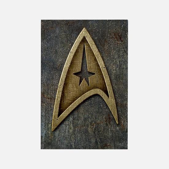 Star Trek Insignia Grunge Rectangle Magnet