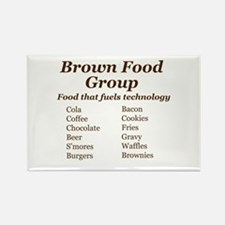 Brown Food Group Magnets