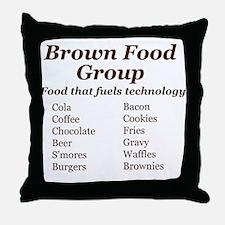 Brown Food Group Throw Pillow