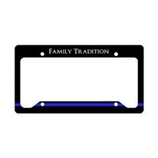 Police Family Tradition License Plate Holder