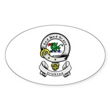 CRICHTON Coat of Arms Oval Decal