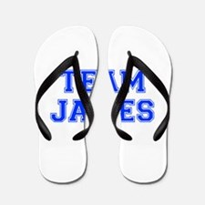 team JAMES-var blue Flip Flops