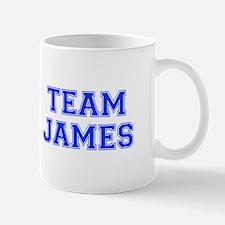 team JAMES-var blue Mugs