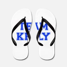 team KELLY-var blue Flip Flops