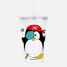 Penguin Pirate Graphic Acrylic Double-wall Tumbler