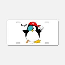 Penguin Pirate Graphic Aluminum License Plate