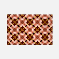 Colorful Kaleidoscope Pattern Rectangle Magnet