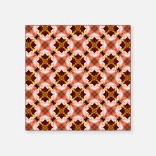 "Colorful Kaleidoscope Patte Square Sticker 3"" x 3"""