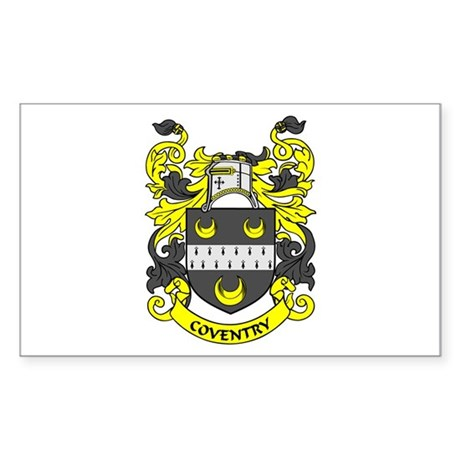 COVENTRY Coat of Arms Rectangle Sticker