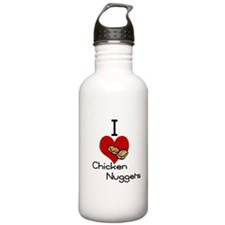 I love-heart chicken nuggets Water Bottle