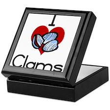 I love-heart clams Keepsake Box