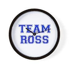 team ROSS-var blue Wall Clock