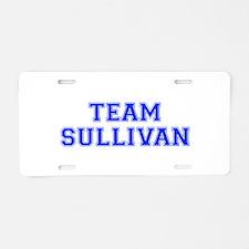 team SULLIVAN-var blue Aluminum License Plate