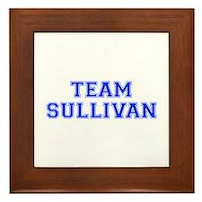 team SULLIVAN-var blue Framed Tile