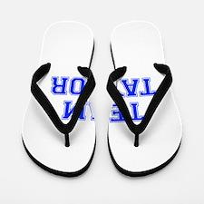 team TAYLOR-var blue Flip Flops