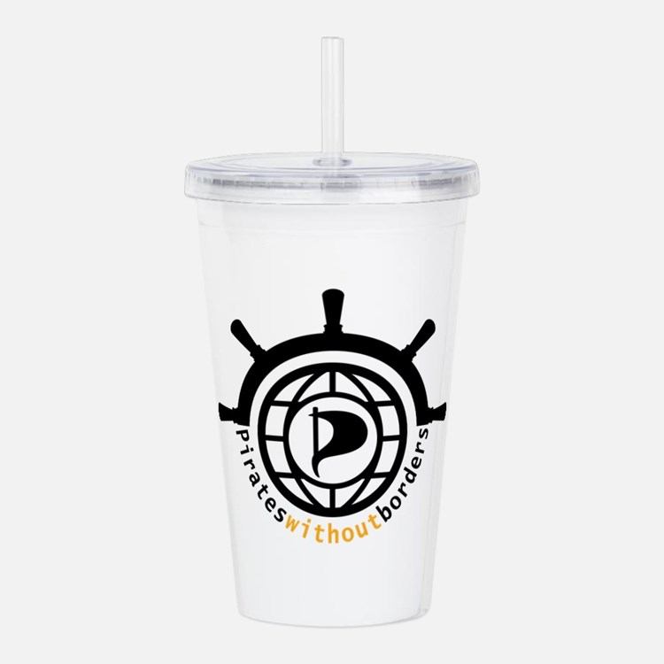 Pirates without border Acrylic Double-wall Tumbler