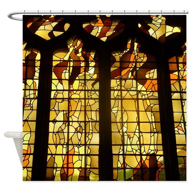 Autumn Stained Glass Shower Curtain By HouseBeautiful