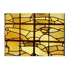 Autumn Stained Glass 5'x7'area Rug