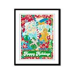 Happy Holidays Framed Panel Print