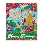 Happy Holidays Throw Blanket