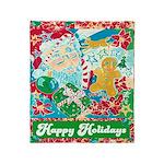 Happy Holidays Throw Blanket