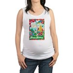 Happy Holidays Maternity Tank Top