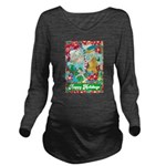 Happy Holidays Long Sleeve Maternity T-Shirt