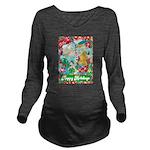 Happy Holidays Long Sleeve Maternity T-Shirt