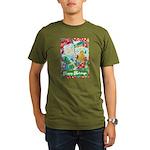 Happy Holidays Organic Men's T-Shirt (dark)