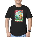 Happy Holidays Men's Fitted T-Shirt (dark)