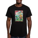 Happy Holidays Men's Fitted T-Shirt (dark)