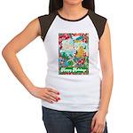 Happy Holidays Women's Cap Sleeve T-Shirt