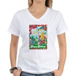 Happy Holidays Women's V-Neck T-Shirt