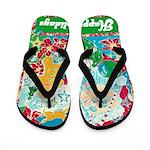 Happy Holidays Flip Flops