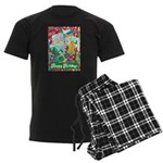 Happy Holidays Men's Dark Pajamas