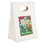 Happy Holidays Canvas Lunch Tote