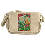 Happy Holidays Messenger Bag