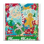 Happy Holidays Tile Coaster