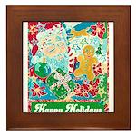 Happy Holidays Framed Tile