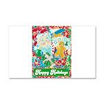 Happy Holidays Car Magnet 20 x 12