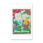 Happy Holidays Rectangle Car Magnet